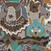 Interspecies animal friendships turqois