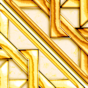 """Marble Quilt Gold Diagonal 36"""""""