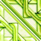 "Marble Quilt Lt Green Diagonal 36"""