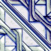 """Marble Quilt Blue Diagonal 36"""""""
