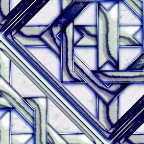 """Marble Quilt Blue Diagonal 27"""""""