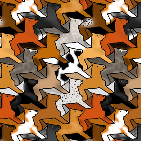 Tessellating Horse Herd