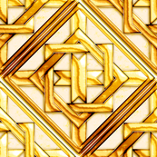 Marble Quilt Gold Diagonal 18""