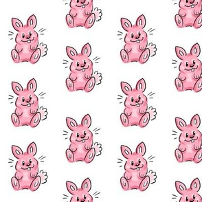 Cartoon bunny pink