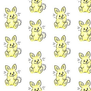 Cartoon Bunny yellow