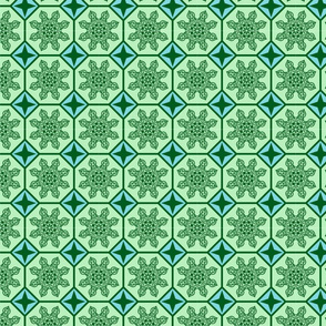 compound octagon tiles green