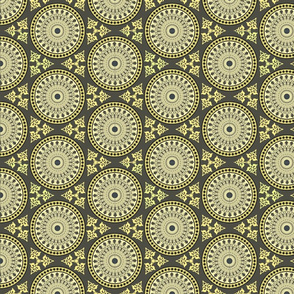 orientalic ornaments hexagonal