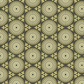 orientalic ornaments hexagonal