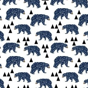 geo camping bear // navy boys room nursery kids design