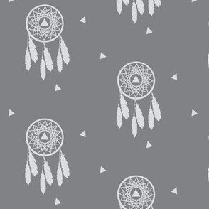 Grey Dream Catcher - Native Dream Catcher