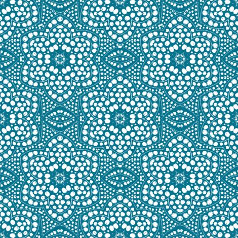 Solid Aqua Dot Bloom