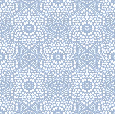 Solid Powder Blue Dot Bloom
