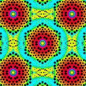 Rainbow Tie Dye Dot Bloom 3