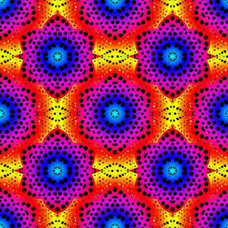 Rainbow Tie Dye Dot Bloom 2