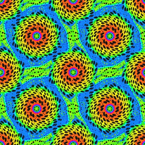 Rainbow Tie Dye Dot Bloom 6