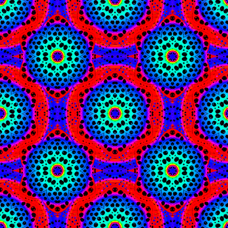 Rainbow Tie Dye Dot Bloom 4