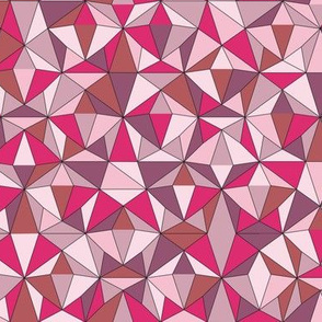 Triangles Powder Pink