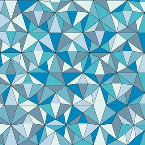 Triangles Powder Blue