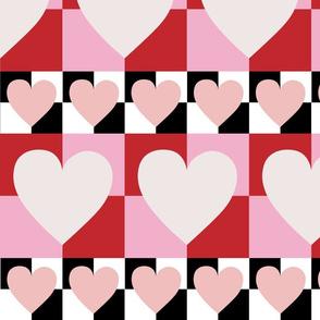 Mod Heart Checkerboard
