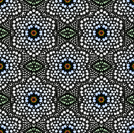Lightly Tinted Black Dot Bloom
