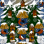 Doug and Petronella Victorian Snowman Fabric #2