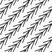 Black marker diagonal chevrons