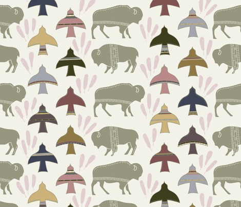 Rspoonflower_19_interspecies_animal_pattern_11_bird_and_bison_5-01_contest117547preview