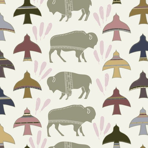 Rspoonflower_19_interspecies_animal_pattern_11_bird_and_bison_5-01_shop_thumb