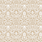 Lucette Ikat in Natural, Half Scale