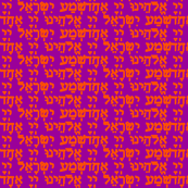 Shema Orange on Purple