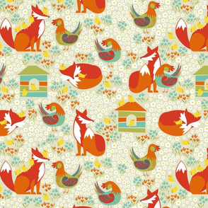 chickens and foxes