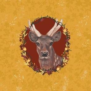 Deer Portrait, yellow