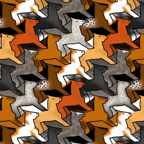 Tessellating Horse Herd 4