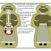 Grandma Aurora May Cut and Sew Doll Ornament
