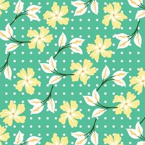 floral for bunnies in green