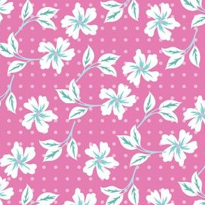 floral for bunnies in pink