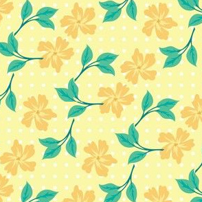 floral for bunnies in yellow