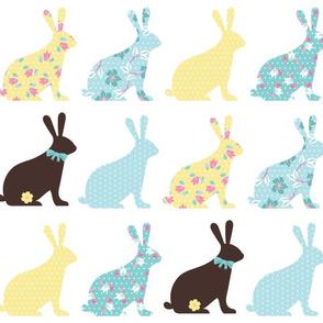 bunnies in blue