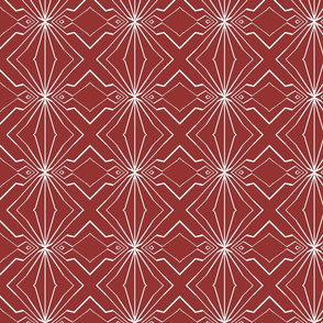 Abstract Diamonds in Dark Pink and White