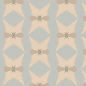 Abstract Vertical Design in Pastel Blue and White