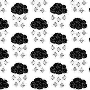 It's Raining Gems Black and White