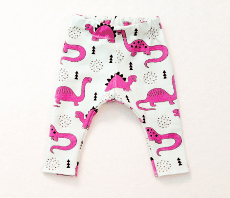 Adorable quirky dino illustration geometric dinosaur animals for kids black and white girls hot pink