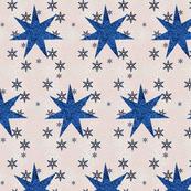 Blue Christmas Stars & Snowflakes
