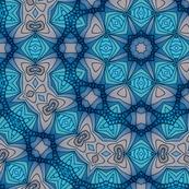 Blue Moroccan Mandala Tile
