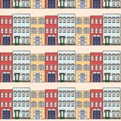 city brick buildings