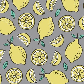 Lemon Citrus on Grey