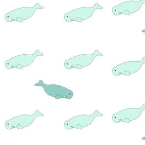 Robert the Manatee-Sea Glass Blue Sea Life/Coastal