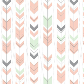 tribal arrows // peach & cucumber