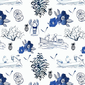 LobsterBoat Toile