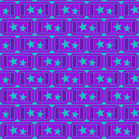 Carnival Ticket Stars Binary I Love You Purple Teal